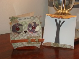 Owl Card & Envelope - Wild Card Cartridge